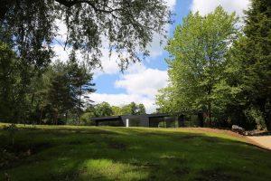 Contemporary designed eco-home frontage view