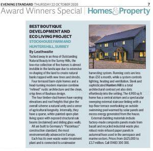 Evening Standard New Homes Awards 2020